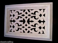 """VICTORIAN AIR VENT COVER 8 X11.5"""" version FRET WORK"""