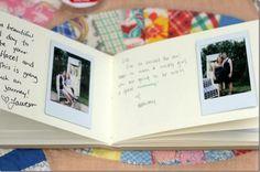 Polaroid guest album - what an awesome idea!