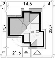 KUĆA IZ SNOVA: Super kuća sa potkrovljem i garažom (DETALJAN PLAN) - Moja kuća i vrt New Modern House, Modern House Facades, Modern Bungalow House, Modern Houses, House Plans Mansion, Luxury House Plans, Office Layout Plan, Unique House Design, Facade House