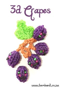 3D Happy Grapes loom band tutorial http://loomband.co.za/3d-happy-grapes-loom-band-tutorial/