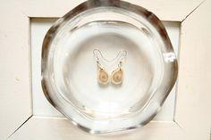Earrings out of reindeer antlers Reindeer Antlers, Plates, Tableware, Earrings, Jewelry, Licence Plates, Ear Rings, Dishes, Dinnerware