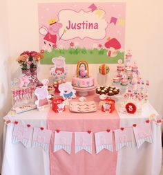 Peppa Pig Dessert Table by Violeta Glace