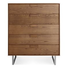 Modern Wood Dresser - Walnut