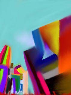 Blocking. Alan Jenkins 2014. IPad Art.