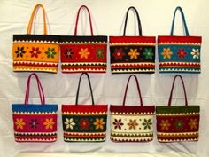 Rangeela Bag patch work Hand Made Beautiful Bright Tote Bag with Pearls