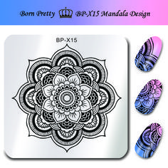 BORN PRETTY 6*6cm Square Nail Art Stamp Stamping Plates Template Mandala Image Design Stamp for Nails BP-X15