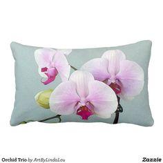 Orchid Trio Lumbar Pillow