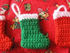 The Striped Deckchair: Crochet pattern for a mini Christmas stocking decoration