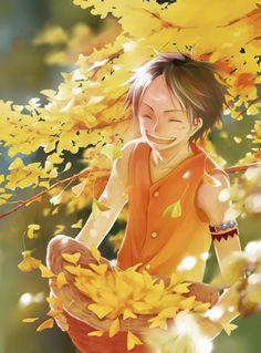 Luffy in autumn