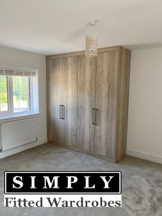 Icelandic oak fitted wardrobes