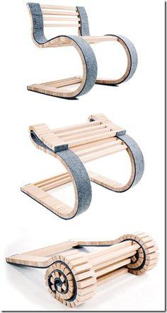 Miesrolo Foldable Wood Chair