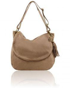 TL BAG TL141110 Soft leather shoulder bag with tassel detail