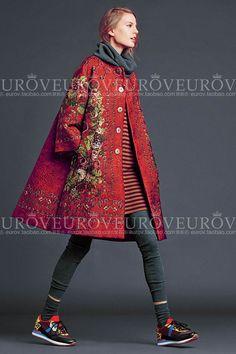 Sale eurov2014 dominante colorido impresión en relieve de flores una expansión rojo de fondo femenino zanja en Trencas de Moda y Complementos Mujer en AliExpress.com | Alibaba Group