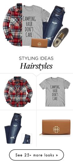 """raining leaves "" by marinampetrillo on Polyvore featuring Tory Burch and Vans"