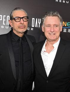 "Actors Jeff Goldblum and Bill Pullman attend the premiere of 20th Century Fox's ""Independence Day: Resurgence"" at TCL Chinese Theatre on June 20, 2016 in Hollywood, California."
