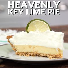 Recipe: Heavenly Key Lime Pie A little bit of sugar never did anyone harm—and this Southern dessert favorite hits the spot. Heavenly Key Lime Pie is Southern Desserts, Easy Desserts, Delicious Desserts, Yummy Food, Key Lime Desserts, Healthy Food, Cheesecake Recipes, Pie Recipes, Sweet Recipes