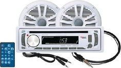 BOSS AUDIO MCK648W.6 Marine Package Includes MR648UA Single-DIN Marine AM/FM...
