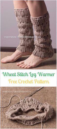 Crochet Wheat Stitch Leg Warmer Free Pattern & Chart