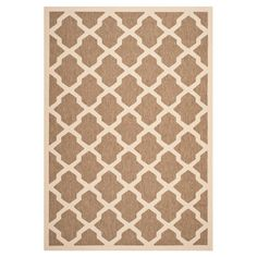 Loomed indoor/outdoor rug with a trellis motif. Made in Turkey.  Product: RugConstruction Material: Polypropylen...