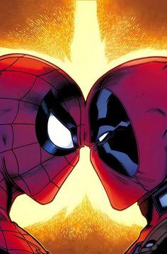 #Spiderman #Fan #Art. (Spider-Man/Deadpool #1 Cover) By: Joe Kelly & Ed McGuinness. (THE * 5 * STÅR * ÅWARD * OF: * AW YEAH, IT'S MAJOR ÅWESOMENESS!!!™) ÅÅÅ+