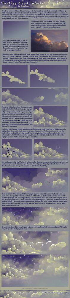 Fantasy Cloud Tutorial by charfade on deviantART