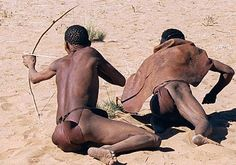 The 'Bushmen' are the oldest inhabitants of southern Africa, where they have lived for at least 20,000 years. Their home is in the vast expanse of the Kalahari desert. There are many different Bushman peoples - they have no collective name for themselves, and the terms 'Bushman', 'San', 'Basarwa' (in Botswana) and so on are used variously. Most of those which are widely understood are imposed by outsiders and have some pejorative sense; many now use and accept the term 'Bushmen'.