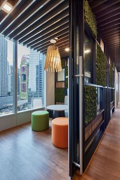 Bringing nature inside to create a soothing aura with green surroundings, for a inspiring, supportive workplace that exudes the company's team ethos to create a sense of belonging for staff Green Walls, Workplace, Singapore, Patio, Spaces, Create, Outdoor Decor, Nature, Home Decor