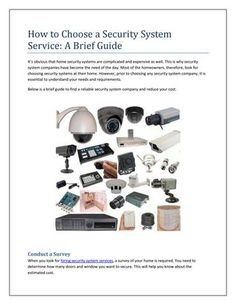 How to Choose a #Security #System #Service: A Brief Guide