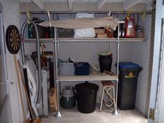 Garage shelf #KeeKlamp