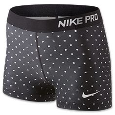 Women's Nike Pro Polka Square Shorts from Finish Line. Shop more products from Finish Line on Wanelo. Nike Spandex Shorts, Nike Shorts Women, Nike Pro Shorts, Nike Pro Women, Compression Shorts, Gym Shorts Womens, Cheer Outfits, Nike Outfits, Running Outfits