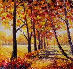 Солнечный осенний пейзаж