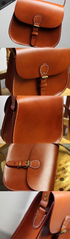 Handmade vintage leather Satchel School crossbody messenger Shoulder B | EverHandmade