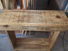 Entry/hall table made from old pallets.