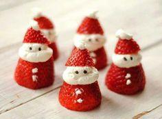 Santa Strawberries Recipe #secretsanta #holiday #christmas #party