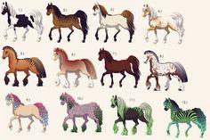 deviantART Horse Adoption | Horse Adoptables Sheet One CLOSED by BeepBoopImARobot