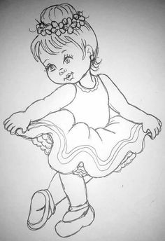 57 ideas for embroidery baby animals coloring pages Girl Drawing Sketches, Girly Drawings, Art Drawings For Kids, Princess Drawings, Pencil Art Drawings, Disney Drawings, Cartoon Drawings, Easy Drawings, Drawing Drawing