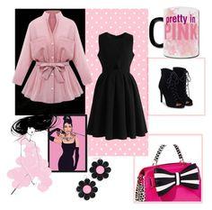 Pink Autumn by mary909090 on Polyvore featuring polyvore fashion style Chicwish JustFab Betsey Johnson Marina Fini Amanti Art clothing
