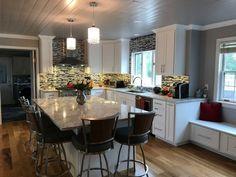 Modern Random Mix Steel - Glass II Tile for Backsplash & Wall Fireplace Surrounds, Fireplace Design, Kitchen Photos, Kitchen Ideas, Tile Installation, Black Stainless Steel, Bathroom Wall, Kitchen Backsplash, Mosaic Tiles