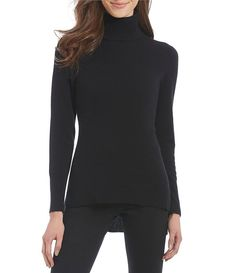 e7c8e7f2696 Antonio Melani Luxury Collection Cashmere Sasha Hi-Low Turtleneck Sweater