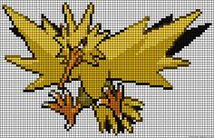 A55887 - friendship-bracelets.net Pixel Pokemon, Crochet Pokemon, Pokemon Perler Beads, Pony Bead Patterns, Perler Patterns, Beading Patterns, Pokemon Cross Stitch, Pixel Art Grid, Pixel Drawing