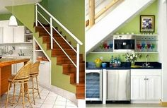 cocina debajo escalera