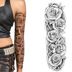 Sexy Tattoos For Women, Upper Arm Tattoos, Sleeve Tattoos For Women, Tattoo Sleeve Designs, Female Leg Tattoos, Female Tattoo Sleeve, Tattoo Uk, Temp Tattoo, Make Tattoo
