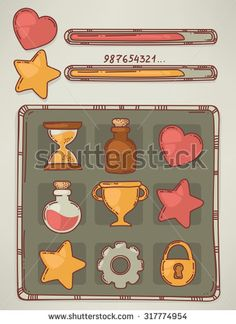 Find Hand Drawn Game Design Elements Objects stock images in HD and millions of other royalty-free stock photos, illustrations and vectors in the Shutterstock collection. Game Ui Design, Logo Design, Royalty Free Images, Royalty Free Stock Photos, Game Gui, Game Interface, Design Elements, Hand Drawn, How To Draw Hands