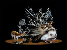 Creating stunning, realistic depictions of animals and objects, Canadian artist Jacub Gagnon includes surreal elements within his compositions, taking us out of… Science Fiction, Ap Studio Art, Danse Macabre, Surrealism Painting, Unusual Art, Illusion Art, Hyperrealism, Fantasy Illustration, Canadian Artists