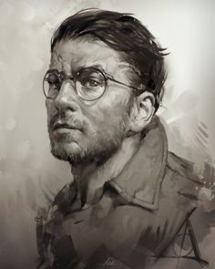 Loose Harry Potter portrait from a little while back :) Harry Potter Portraits, Harry Potter Art, Character Portraits, Character Art, Character Inspiration, Digital Portrait, Portrait Art, Aaron Griffin, Fantasy