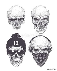 dotwork skull - Google Search