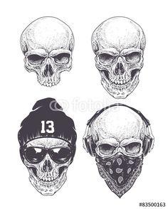 Resultado de imagem para dotwork skull