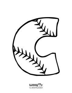 Printable Baseball Alphabet Letters Baseball Alphabet Letter C – Craft Jr.