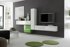 Modern Wall units and Entertainment centers for your modern living room from top Italian and European designers at closeout price. Tv Unit Design, Tv Wall Design, Tv Wanddekor, Modern Entertainment Center, Entertainment Units, Modern Wall Units, Tv Wall Decor, Wall Tv, Cube Unit