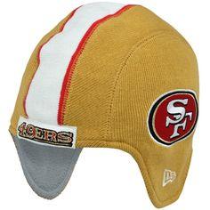 New Era San Francisco 49ers Pigskin Helmet Knit Hat - Gold d2f8fd61b